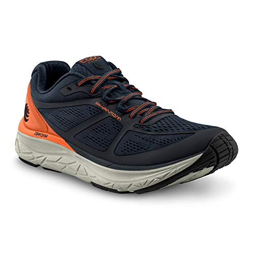 Topo Athletic Phantom Men's Natural Running Shoe - 5mm Drop, Mens Athletic Shoe for Road Running Navy/Orange