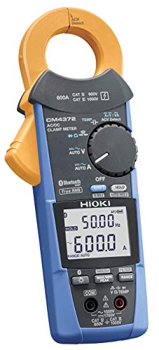 Hioki CM4372 True-RMS Clamp Meter, 1000VAC/1500VDC/600A with Frequency, Resistance and Bluetooth