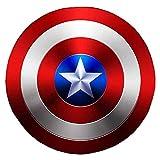 Escudo del Capitán América Hecho de Metal, Accesorios de Cosplay, superhéroe, Disfraz Retro, Escudo de Halloween, 75 Aniversario para Adultos y niños, Bar, decoración para Colgar en la Pared