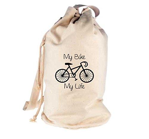 Unbekannt Seesack Fahrrad my bike my life BMX Kult Gymsack Kultsack natur