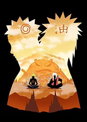 DIY Dipingere con i numeri Anime Naruto immagini in stile nordico pittura digitale per bambini Con pennello e vernice acrilica Pittura a olio su tela Kit vernice per adul40x60cm(Nessuna cornice)