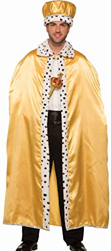 Forum Novelties Adult Royal Costume Cape, Gold, One Size