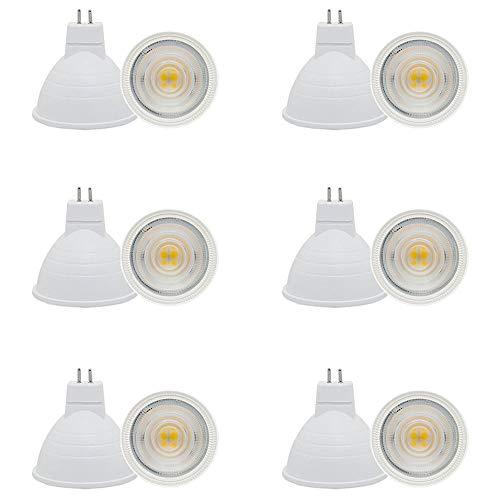 Jenyolon 12er Pack MR16 GU5.3 LED Lampen, Warmweiß 3000K, 500LM, 5W Ersatz für 50W Halogenlampen Glühlampen, Nicht Dimmbar, 12V AC/DC, PVC, 30°Abstrahlwinke