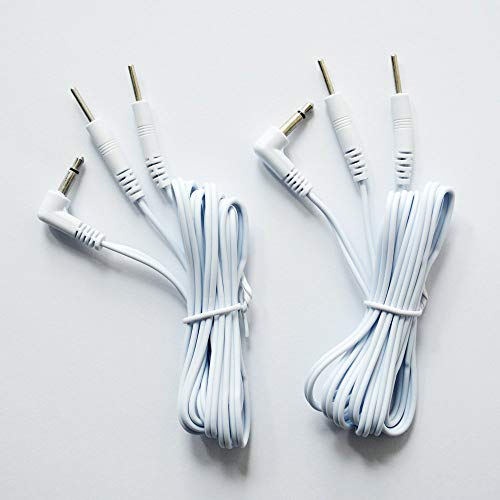 Vogueing Tool - 1 par de cables de electrodo de 120 cm, clavijas jack de 2,35 mm, conexión de clavija de 2,0 mm, color blanco