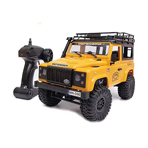 TIAO RC Car Spielzeug 01.12 Scale Model RTR 25 km/h Kletter Auto Allrad Fernbedienung großer Fuß Geländewagen Elektronisches Spielzeug-Kind-Geschenk,Gelb