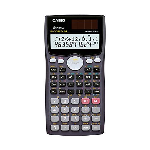 CASIO FX-991MS Technisch-Wissenschaftlicher Taschenrechner 10+2 Stellen, 401 Funktionen, Solar/Batterie, CALC-Funktion