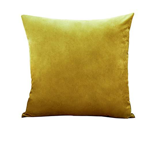 XULIM Fundas de almohada de terciopelo suave para sofá, sala de estar, decoración para sofá, coche, decoración del hogar, color marrón, 50 x 50 cm