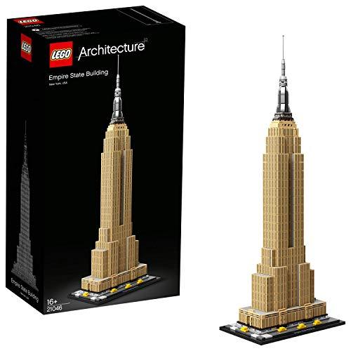 LEGO 21046 Architecture Empire State Building, Set de Construcción, Modelo de Coleccionista, Maqueta Decorativa, a Partir de 16 años