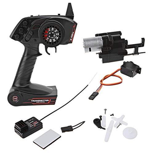 wivarra para WPL B1 B24 B16 C24 1/16 4WD 6WD RC Coche Transmisor de Radio de 3 Canales y Caja de Cambios de Velocidad Rango de LíMite de Acelerador Súper Activo