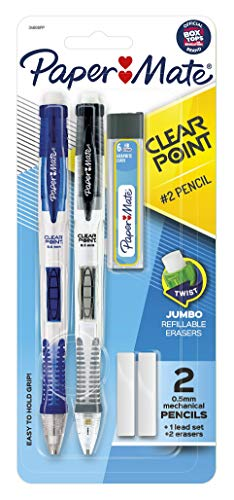 Clear Point Mechanical Pencil Starter Set, 0.5 mm, Assorted, 2/Set