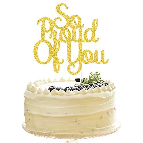 Tenhaisi Gold Glittery So Proud of You Cake...
