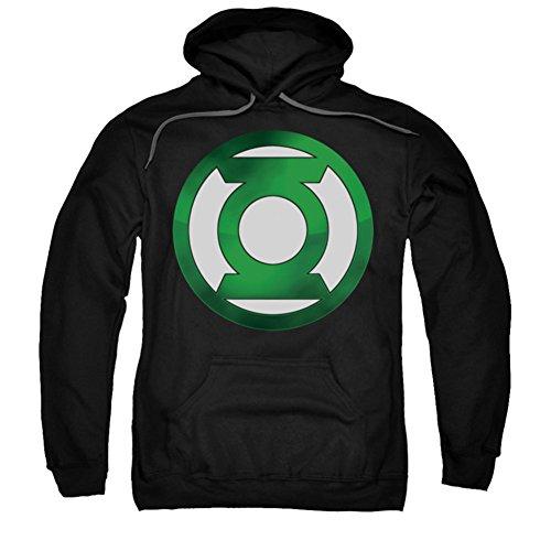 Sudadera con capucha para adultos con logotipo de linterna verde y cromo
