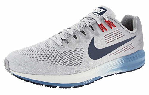 Nike Air Zoom Structure 21 Mens Running Trainers 904695 Sneakers Shoes (UK 9 US 10 EU 44, Wolf Grey Black Light Carbon 003)