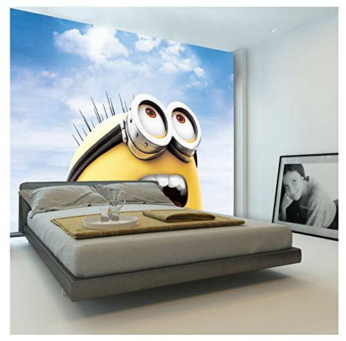 3D Cartoon Wallpaper Minions Fototapete Benutzerdefinierte Wandbild Junge Mädchen Kind Schlafzimmer Raumdekor Wohnzimmer Flur Despicable Me 200 * 140 Cm
