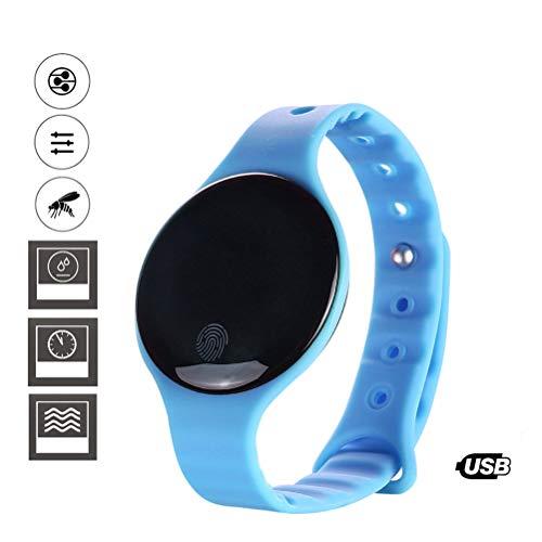 TAIPPAN Ultrasone muskietenwerende armbanden USB Rechageable waterdichte muggeninsectenverdeler niet-giftige elektronische anti-muggenarmbanden voor baby kinderen en volwassenen