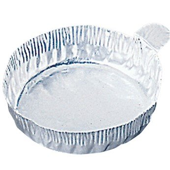 Cole-Parmer AO-01018-50 57 mm Aluminum Crimpled-Walled Weighing Dishes with Tab, 60 mL, 100/Pk