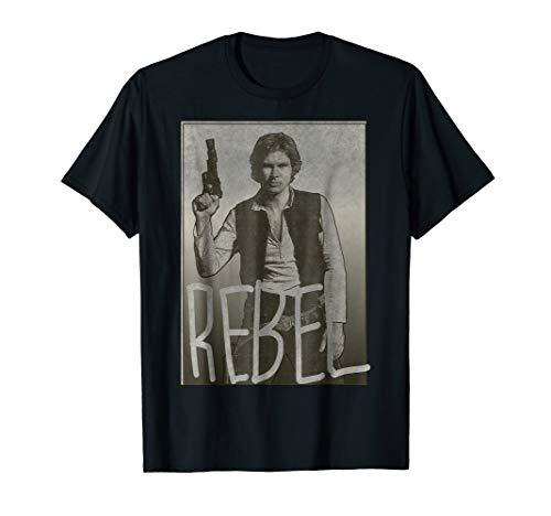 Star Wars Han Solo REBEL Portrait Graphic T-Shirt