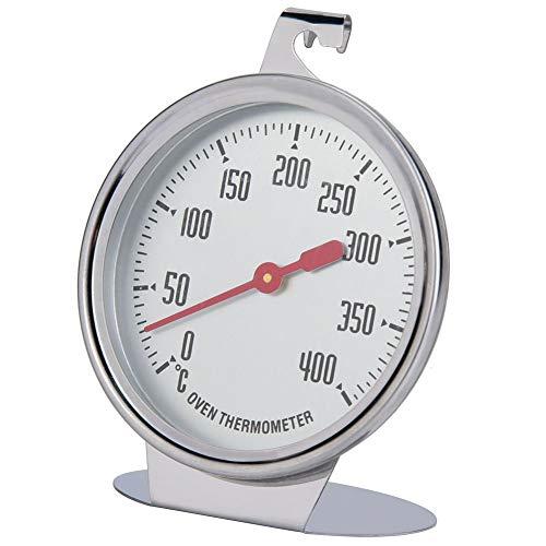 Thermometer für Elektroherd, Backofenthermometer für Gasherd, Edelstahl-Ofenthermometer mit großem Zifferblatt für Küchenbackwaren