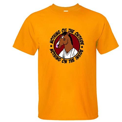 ACEGI Ma Man Bojack Horseman Personalidad Creativa Estrella Spoof Camiseta de Manga Corta DC Hip Hop Summer