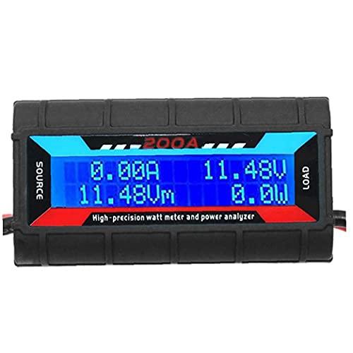 Jorzer Analizador De Potencia 200a Vatios Medidor De Potencia Analizador De Alta Precisión Con Pantalla Lcd Digital De Voltaje De La Energía Actual