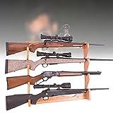 ZPCSAWA Bastidores de Armas Horizontales, Montaje en Pared Percha para Rifle Gancho para Escopeta Soporte para Airsoft Almacenamiento y Exhibición de Armas