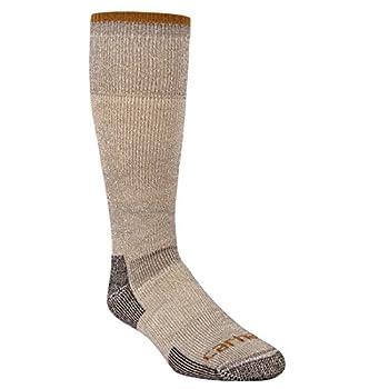 Carhartt Men s Big and Tall Arctic Wool Heavy Boot Socks Heather Grey Shoe Size  11-15