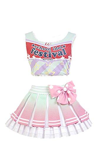Daiendi Lovelive. Cheerleaders Kotori Minami uniforme Cosplay disfraz adulto talla