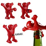 BINX Moda portátil de la Botella de Cerveza abrelatas para Viajar Creativo Divertido Rojo Villano Vino de Vino sacacorchos plátano Hombre Tope de Vino Regalo para los huéspedes
