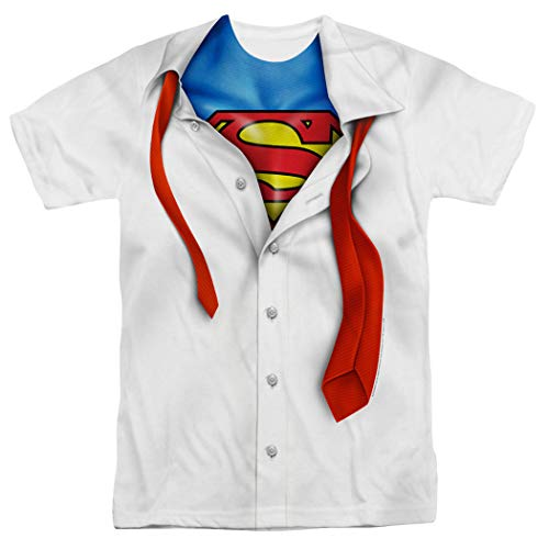 Superman Shirt and Tie DC Comics I'm Superman T Shirt & Stickers (Large)