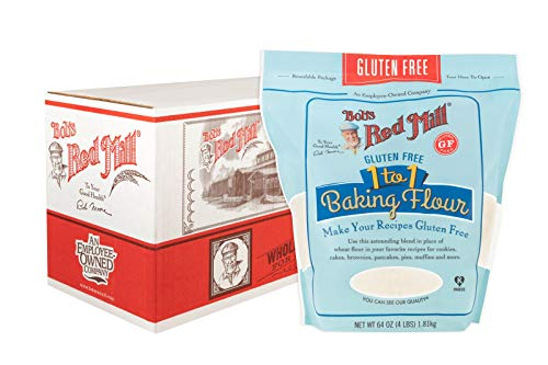 Bob's Red Mill Gluten Free 1-to-1 Baking Flour, 256 Ounce (Pack of 4)