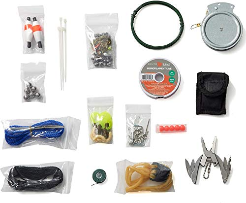 Off Grid Tools Fishing and Hunting Kit, 127 Pieces – Outdoor Survival Kit, Resealable Waterproof Bag, Includes Survival Information Sheet, Tactical Gear & Accessories