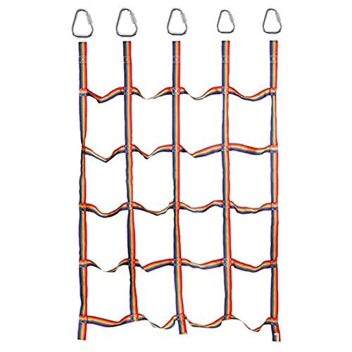Red De Escalada para Niños Red para Trepar Red De Escalada De Jardín con Hebilla Triangular Cuerda Trenzada De Nylon Juego Exterior para Parque Infantil Mejorar Agilidad Velocidad