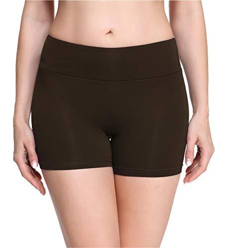 Merry Style Leggings Corti Pantaloncini Donna MS10-284 (Marrone(Shorts), S)