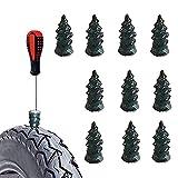 Chiodi in gomma per riparazione pneumatici tubeless -Chiodo per riparazione pneumatici sottovuoto per moto, Kit di riparazione moto Tubeless Fast Tyres Riparazione Tool per Auto,Moto,Camion (L 10pcs)