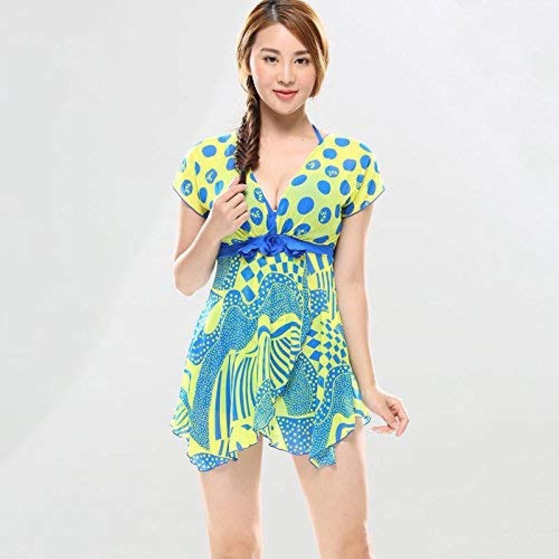 Qiusa Sexy Sexy Sexy Swimsuit_Split Wave Point Sexy Badeanzug, die grüne + rote Serie L (Farbe   Wie Gezeigt, Größe   Einheitsgröße) B07NHWGK24  Haltbar 047f5e