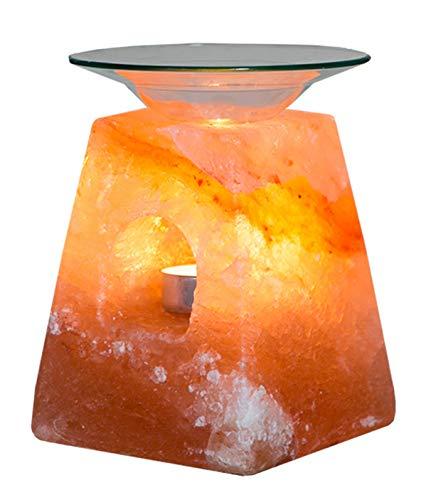 Himalayan Natural Salt Essential Oil Lamp Burner/Candle Wax Tart Burner Warmer/Tealight Holder Aromatherapy Klass Home Collection (Pyramid)