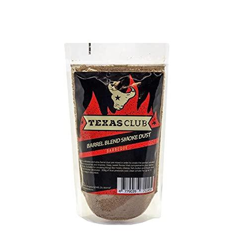 TEXAS CLUB Barrel Blend Cold Smoke Dust, 0,5 kg, para barbacoa perfecta y tiempo de picnic