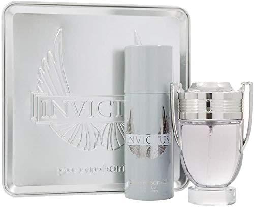 Paco Rabanne Invictus Set homme/hombres, Eau de Toilette Vaporisateur/spray de 100 ml, desodorante vaporizado/spray 150 ml, 1 paquete (1 x 250 ml)