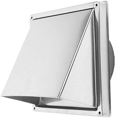 ybaymy Rejilla de ventilación de acero inoxidable de 150 mm, rejilla de ventilación para cocina, campana extractora, color plateado