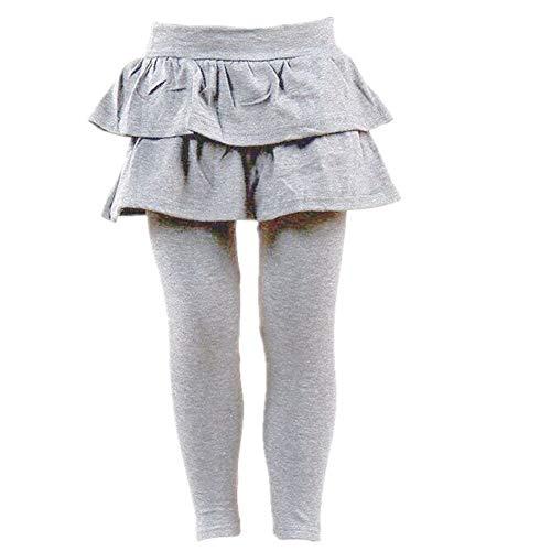 Brightup gonna pantaloni autunno primavera Legging per bambini ragazza, Grigio, 6-7 Anni