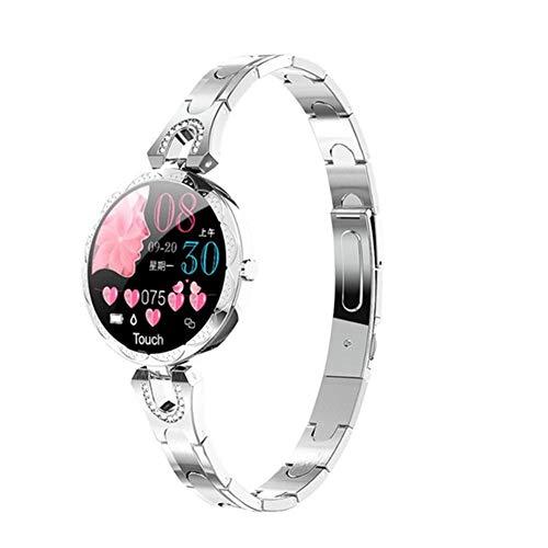 LXZ AK15 Damen Smart Watch Steel Uhr wasserdichte Uhr Herzfrequenz Schritt Fitness Tracker Für Android IOS Damen-Mode-Uhr PK H8,B