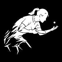 佑树-ゆうき 心 いちろう 16.6M * 14.2 CENTIMETRI卓球ピンポンスポーツデラRagazza CreativaデラデカルコマニアデルVinileデルコーポレートディオートDecorazioneオートフレスコC31-0131 (Colore : Argento)