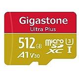 【5年保証 】Gigastone 512GB マイクロSDカード A1 V30 Ultra HD 4K ビデオ録画 高速4Kゲーム Nintendo Switch 動作確認済 100MB/s マイクロ SDXC UHS-I U3 C10 Class 10 micro sd カード SD 変換アダプタ付