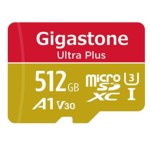 Gigastone 512GB Micro SD Card, 4K Video Recording, 4K Game Pro, Nintendo Switch Compatible, R/W up to 100/80 MB/s, Micro SDXC UHS-I A1 V30 Class 10