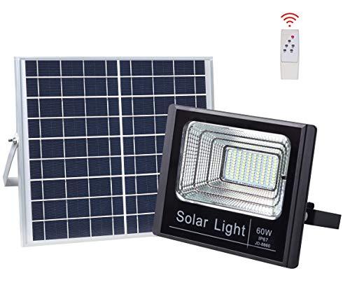 60W LED im Freien Solarflutlicht, IP67 Wasserdichten Outdoor-Sicherheits-Flut-Licht-Halterung für Schild, Garten, Bauernhof, Garage, Auto-On/Off Dusk to Dawn