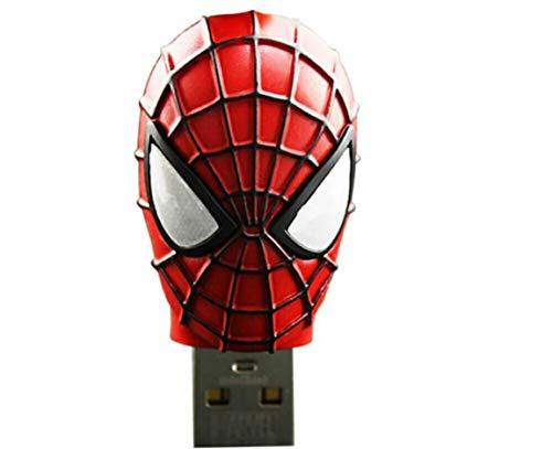 Clé USB Pen Drive Flash USB2.0 Haute Vitesse Créatif Anime Dessin animé imperméable Convient à PC la télé Voiture (4GB, Spiderman - big)