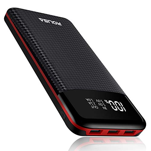 Portable Charger Power Bank 24000mAh High Capacity Battery Packs with 3 USB Output Ports Backup Battery,Digital Display LCD Screen,Compatible with Smart Phones,Android Devices,Tablets and Others