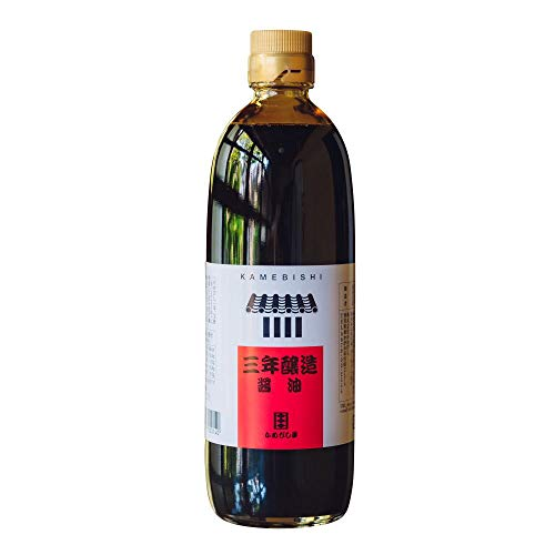 Kamebishi soy sauce three-year brewing 16.9 fl oz, Umami for sashimi cold Tofu and broiled eel , dipped noodle