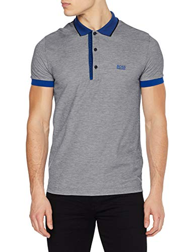 BOSS Mens Paule 4 Polo Shirt, Charcoal (10), M