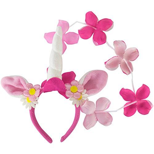 Nieuw haarband eenhoorn met bloemen